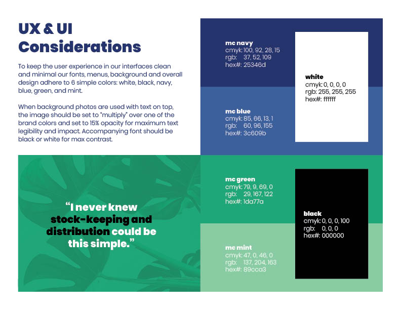 Maricarry Brand Guide: UI & UX Considerations